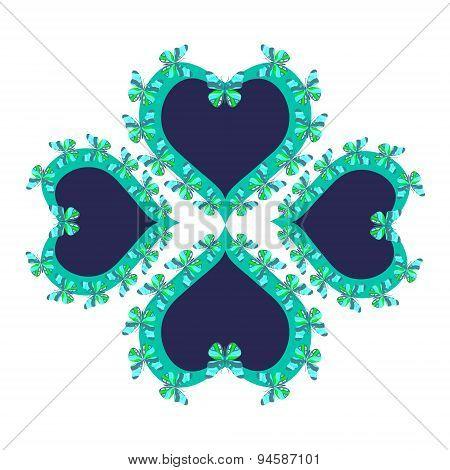 Hearts pattern.