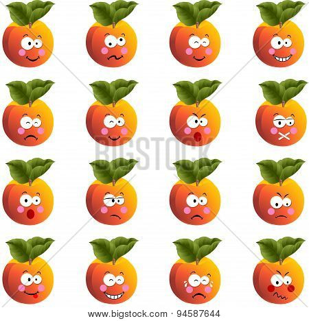 Peach with feature a different expression
