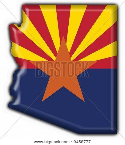 Arizona (usa State) Button Flag Map Shape