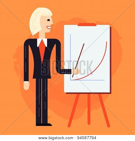Business Coach Speaking Illustration