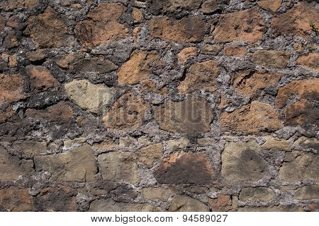 Antique Textured Wall From Stone