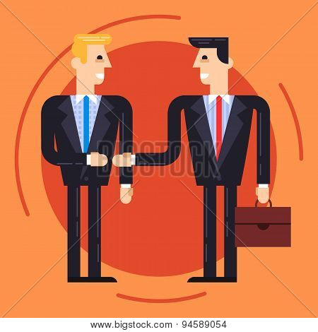 Businessmen Shaking Each Other Hands