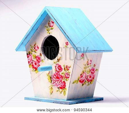 Wooden Handmade Colorful Bird House