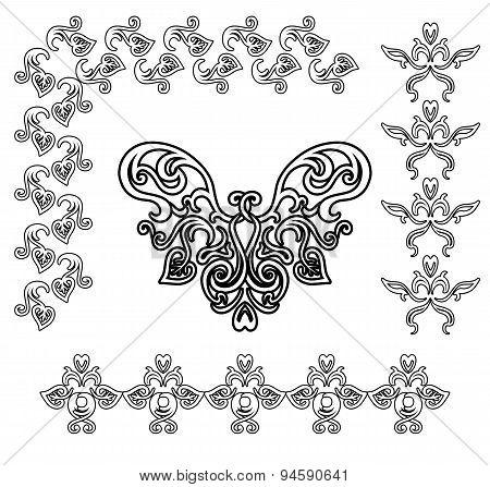 Black-white ornamental