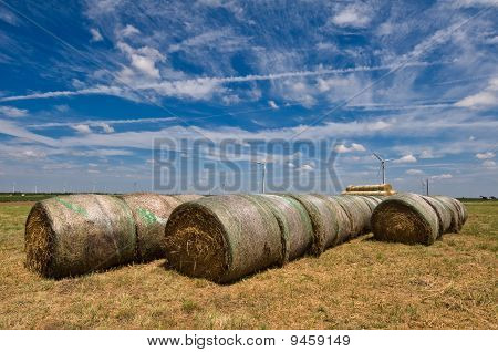 Green energy; Bails of Hay