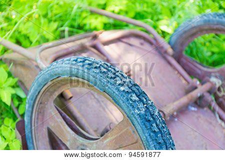 Old Garden Wheelbarrow