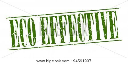 Eco Effective Green Grunge Vintage Stamp Isolated On White Background