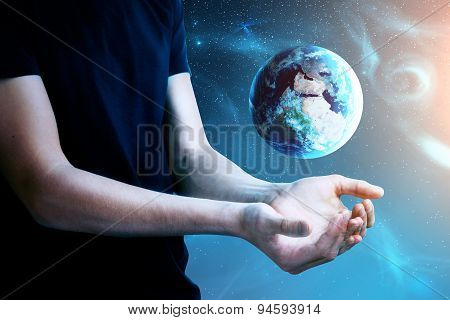 Man With Earth