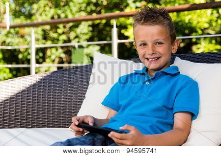 Young Boy On Patio