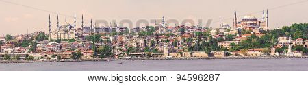 Panoramic View At Istanbul, Turkey.