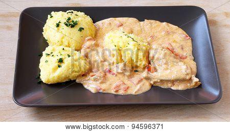 Chicken Polenta (mamaliga-puliszka)