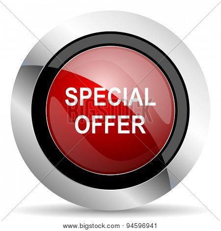 special offer red glossy web icon original modern design for web and mobile app on white background