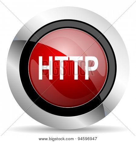 http red glossy web icon original modern design for web and mobile app on white background