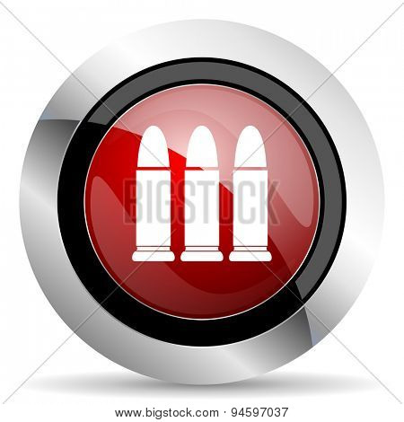 ammunition red glossy web icon original modern design for web and mobile app on white background