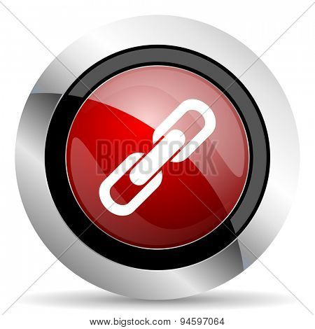 link red glossy web icon original modern design for web and mobile app on white background