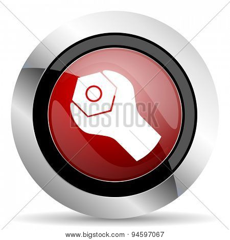 tools red glossy web icon original modern design for web and mobile app on white background