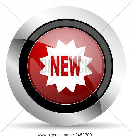 new red glossy web icon original modern design for web and mobile app on white background