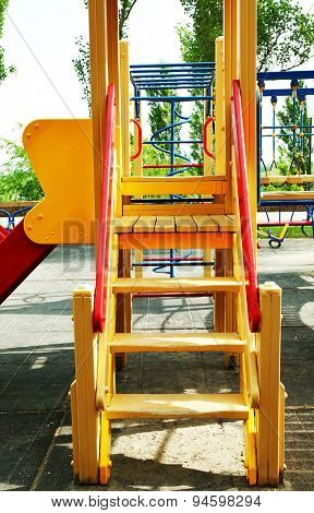 Colorful playground in public park