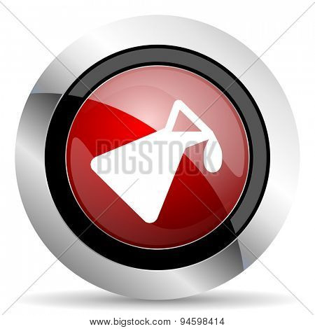 chemistry red glossy web icon original modern design for web and mobile app on white background