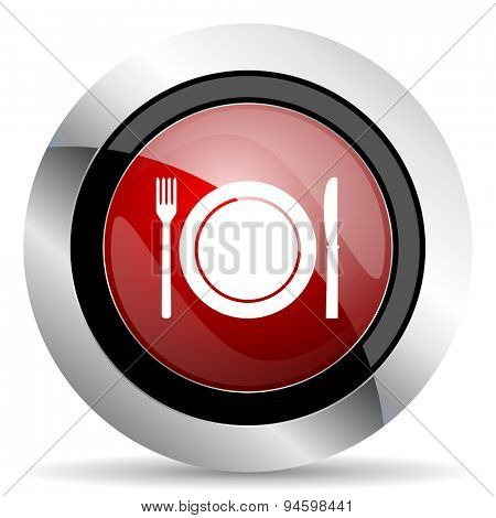 restaurant red glossy web icon original modern design for web and mobile app on white background original modern design for web and mobile app on white background