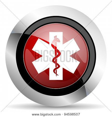 emergency red glossy web icon original modern design for web and mobile app on white background