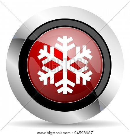 snow red glossy web icon original modern design for web and mobile app on white background