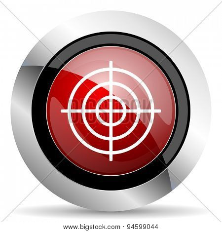 target red glossy web icon original modern design for web and mobile app on white background
