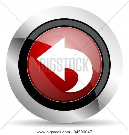 back red glossy web icon original modern design for web and mobile app on white background
