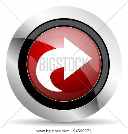 next red glossy web icon original modern design for web and mobile app on white background