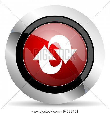 rotation red glossy web icon original modern design for web and mobile app on white background