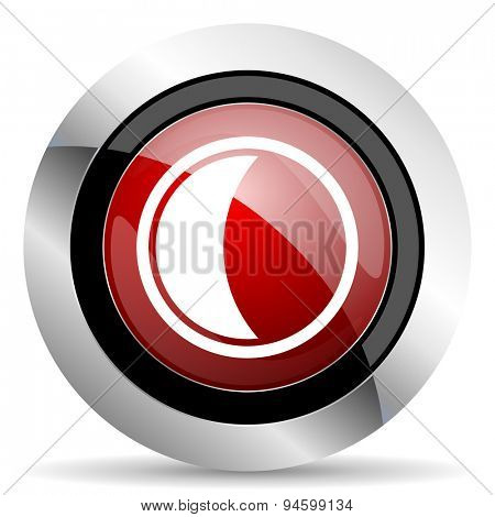 moon red glossy web icon original modern design for web and mobile app on white background