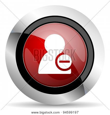remove contact red glossy web icon original modern design for web and mobile app on white background
