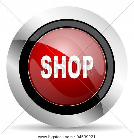 shop red glossy web icon original modern design for web and mobile app on white background