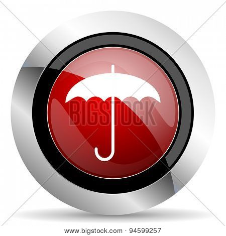 umbrella red glossy web icon original modern design for web and mobile app on white background