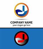stock photo of letter j  - Vector illustration of abstract icons based on the letter J logo - JPG