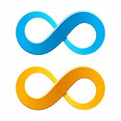 stock photo of infinity  - Vector illustration of an infinity symbol  - JPG