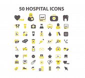image of infirmary  - 50 hospital isolated icons - JPG