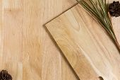 pic of dry grass  - Wood Texture Frame Background Decorated by Dry Lemon Grass - JPG