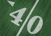 pic of ncaa  - View From Above of Forty Yard Line on American Football - JPG