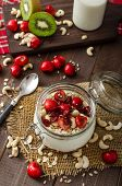 pic of wonderful  - Domestic cherry yogurt with wonder chia seeds and granula - JPG