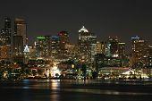 stock photo of washington skyline  - Seattle Skyline - JPG
