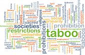 stock photo of pedophilia  - Background concept wordcloud illustration of taboo - JPG