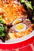 pic of meatloaf  - Meatloaf with boiled eggs in puff pastry - JPG