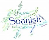 foto of dialect  - Spanish Language Showing Spain Translator And Lingo - JPG