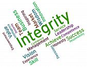 stock photo of morals  - Integrity Words Meaning Virtuous Morality And Righteousness - JPG
