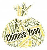 image of yuan  - Chinese Yuan Representing Forex Trading And Banknote - JPG