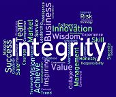 picture of morals  - Integrity Words Means Text Morality And Virtue - JPG