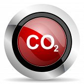 pic of carbon-dioxide  - carbon dioxide red glossy web icon original modern design for web and mobile app on white background  - JPG