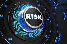 image of controller  - Risk Controller on Black Control Console with Blue Backlight - JPG