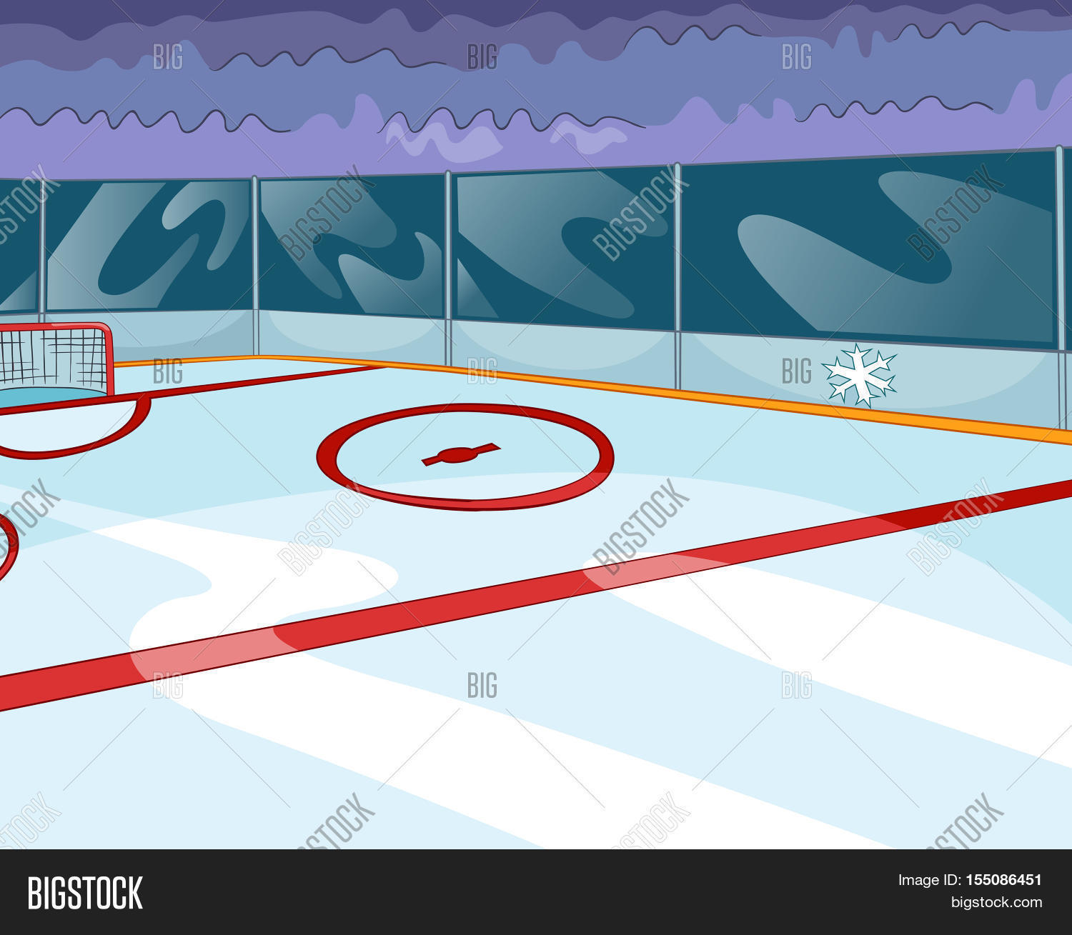 Hand drawn cartoon sport stadium image photo bigstock for Patinoire exterieur